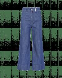 GOODBYE: Jeans a campana gessato