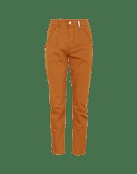 TRICKSTER: Orange shaped leg jeans