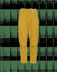 RESOUND: Pantalone giallo zafferano con cucitura a croce