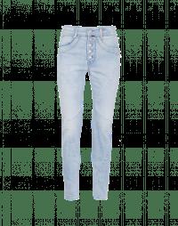 RIGOR: Zig-zag jeans with button-thou fly