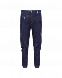 IN-MOTION: Pantaloni affusolati blu navy