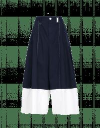 WANDERLUST: Pantaloni ampi blu navy e bianchi