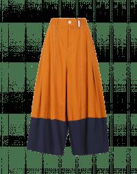 WANDERLUST: Pantaloni ampi marroni e blu navy