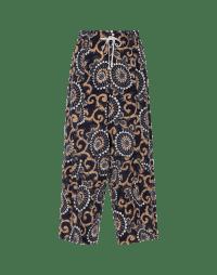 DIVERGE: Pantaloni ampi in seta stampata