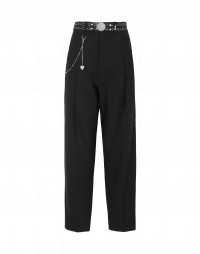 CONVINCE: Pantaloni affusolati in lana nera