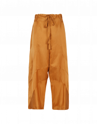 DIVERGE: Wide leg cotton and silk pant