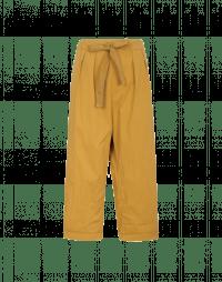 VIGOUR: Pantaloni in twill di cotone con cordino arricciabile