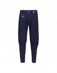 IN-MOTION: Pantaloni affusolati blu navy