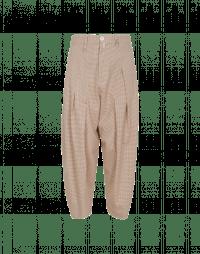 RAPPORT: Pantaloni quadrettati color crema e sabbia
