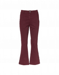 SCAMPER: Flared twill pants with inset