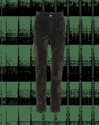 THRIVE: Jeans in denim floccato con graffiature