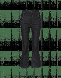 SCAMPER: Flared black denim pants