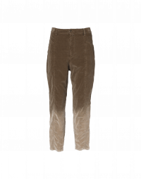 BLUNT: Hi waisted pants in ombre shaded stretch cotton velvet