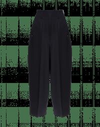 SLEEK: Wide leg, cropped pants in navy twill