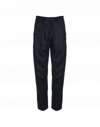 RESOUND: Pantaloni gessati con cuciture incrociate
