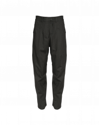 RESOUND: Pinstripe pants with criss-cross front leg seam
