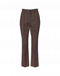 LOYAL: Straight leg pants in check