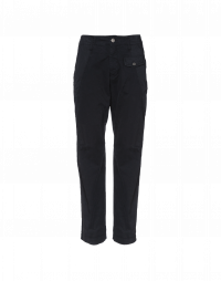 HYPER: Flat front pants in twill with poplin hip insert