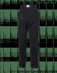 SNEEK: Pantaloni maschili a quadri blu e crema