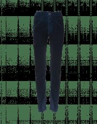 ABRUPT: Jeans in velluto blu con trattamento