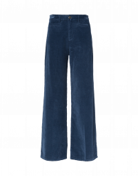 FOLLOW ON: Pantaloni in velluto di cotone blu medio
