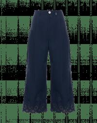 HOOPLA: Pantaloni blu navy con ricamo