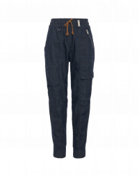 DAZE: Pantaloni in denim multitasche con coulisse