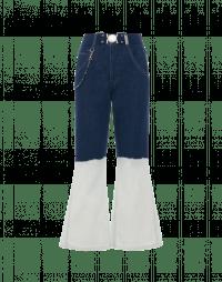 JITTERY: Jeans aderenti a campana con sfumatura tie-dye
