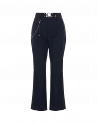 LEADER: Flared pants in mid blue wool stretch