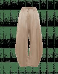 DECIPHER: Pantaloni larghi con gamba curva in cotone colore tortora