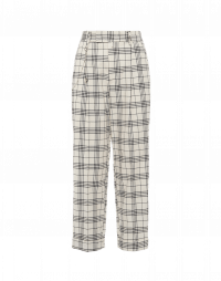 RATIONALE: Man's style pants in cream and black check