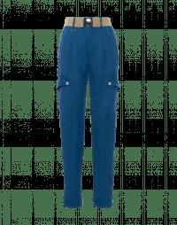 ESCAPE: Blue multi-pocket pants