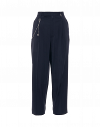 BRISK: Mans style pants in navy blue shadow check