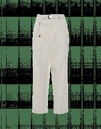 RATIONALE: Pantaloni maschili in rayon e canapa colore crema