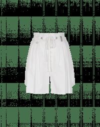SCANTY: Bermuda in cotone bianco con 4 pieghe