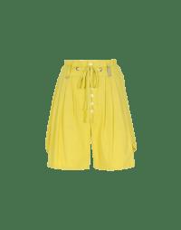 SCANTY: Bermuda in cotone giallo con 4 pieghe