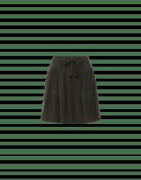 FLUKE: Green full leg shorts with tie waist