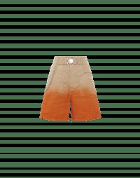 HINT-AT: Wide bermuda with orange dyed hem