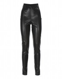 VITALITY: Leather look HIGH leggings