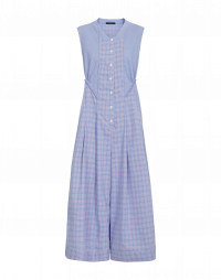 ABOUT-TURN: Sleeveless overalls in double check