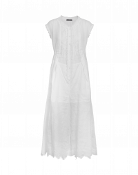 DAYLIGHT: Tuta smanicata in ramie bianco
