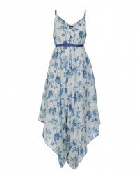 AUBADE: Delft blue flower jumpsuit