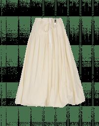 MAYHEM: Full cream poplin skirt