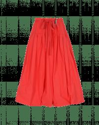 MAYHEM: Full red poplin skirt