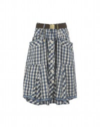 CHARADE: Gingham skirt