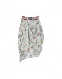 DABBLE: Cream vintage floral print skirt