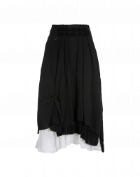 MATCHMAKE: Black pick-up skirt with white underskirt