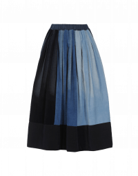 REVOLVE: Multi -shade pleated corduroy skirt