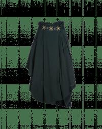 OUTSET: High waist draped skirt in winter green