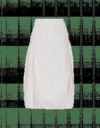 WONDER-FUL: Full skirt in cream self-stripe cotton